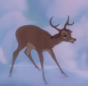 Bambi just took a big ol' whiff of pheromones and he's not comin' back for a while.