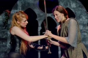 Thalia (Mary-Kate Arnold) and Amarantha (Moira Begale)