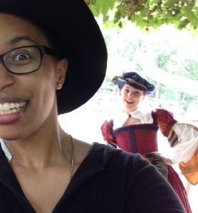 YE OLDE REN FAIRE PHOTOBOMB of Danielle by me